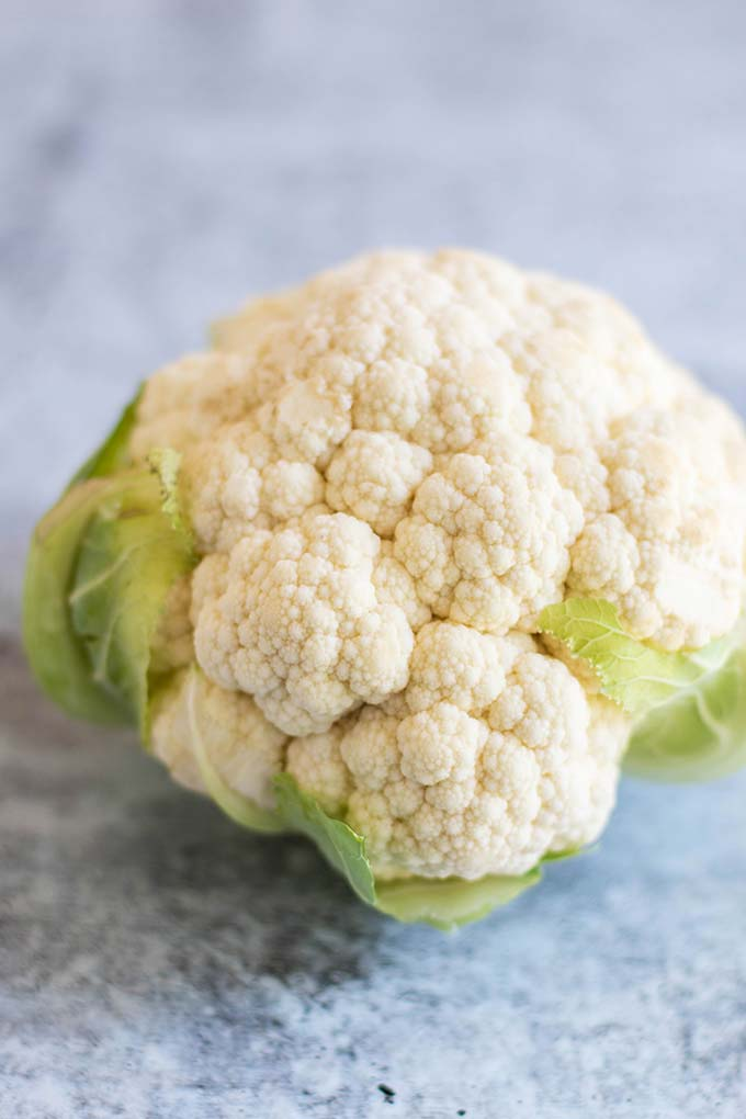 A whole head of cauliflower.