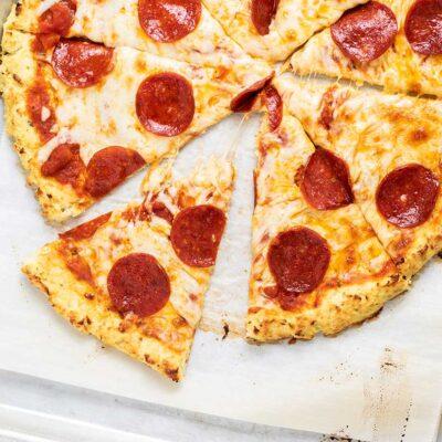 Cauliflower Keto Pizza Crust