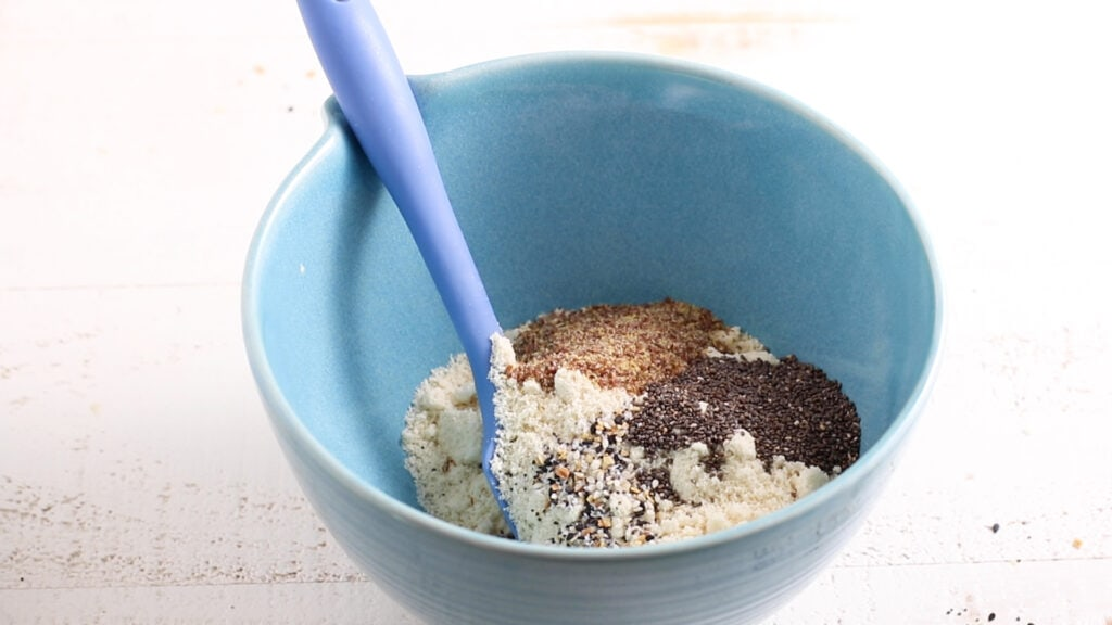 The dry ingredients for almond flour crackers.